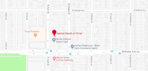 sunrise church of Christ church map driving directions